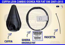 Cuffia Cambio Fiat 500 2007>2015 leva marce cuffie per nuova cinquecento no logo