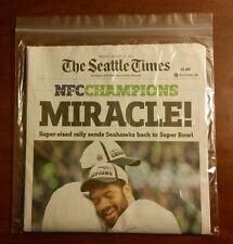 SEAHAWKS NFC CHAMPS BEAT GREENBAY SEATTLE TIMES NEWSPAPER MONDAYS EDITON 1/19/15