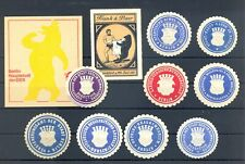 GERMANY etc. 11 x POSTER STAMP /COVER SEALS = BEAR = */(*) --F/VF--
