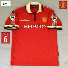 Original Manchester United Football Shirt Jaap Stam UMBRO 1998 Vintage Jersey