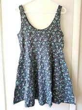 NWT!! Aeropostale Blue Floral Sleeveless Fit & Flare Summer Dress - XL X-Large