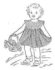 Vintage Crochet PATTERN to make Dress Baby Yoke Toddler Size 1-2 CrochetDress