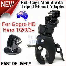 Roll Cage Mount Handlebar Seatpost For GoPro Go Pro Hero HD 5 4 3 Clamp Plus