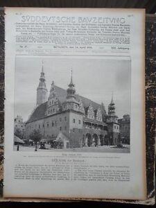 1909  Sdt. Bauzeitung 17 /  Brieg Rathaus