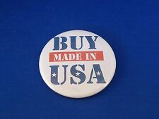 """""""BUY MADE IN USA""""  LOT OF 12  BUTTONS pin pinback badge patriotic American pride"""