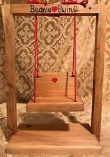 """Handcrafted Wooden Swing for Ty Beanie Babies  12 1/4"""" Tall - In New Condition!"""