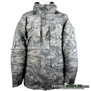 Genuine US Airforce Tigerstripe ABU Gortex Goretex APECS Jacket NEW, XL Regular