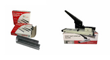 More details for heavyduty metal adjustable stapler paper bookbinding 125sheet capacity+1000 pins