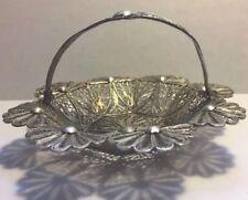 Antique Silver Filiare Basket