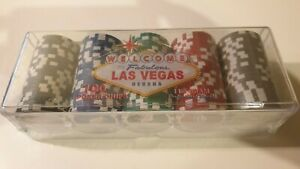 Genuine LAS VEGAS POKER CHIPS 11.5g  x 100 Tray NEW IN BOX texas hold em USA