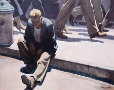 Maynard Dixon Forgotten Man Canvas Print 16 x 20