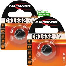 2 x Ansmann CR1632 3V Lithium Coin Cell Battery 1632 DL1632 KCR1632, BR1632