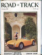 Road & Track Magazine February 1956 Arnolt-Bristol GD No ML 030617nonjhe