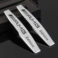 2pcs Top AMG Auto Aufkleber Emblem Metall Schriftzug für Schutzblech Chrome
