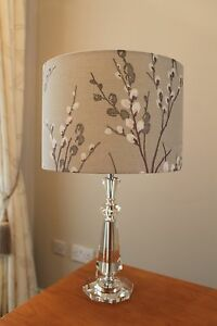 LAURA ASHLEY PUSSY WILLOW NATURAL LAMPSHADE VARIOUS SIZES - 20CM 30CM 40CM