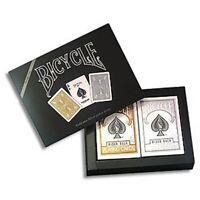 Bicycle Prestige Set 2 Decks Gold & Silber Poker Spielkarten