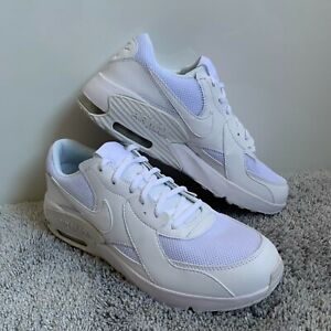 Nike Air Max Excee GS CD6894 100 Triple White Size Youth 7Y Men 7 Women 8.5