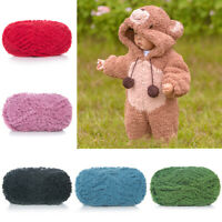 50g Soft Coral Fleece Yarns 1 Ply Cotton Blend Hand Knitting Crochet Thread Yarn
