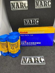 3x Kodak Ektachrome E100S  Professional 120 film expired film