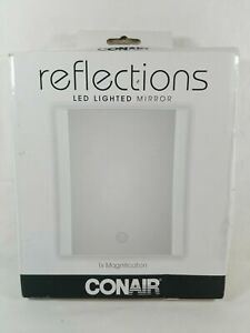 Conair Reflections Makeup Mirror LED Lighted Collection 1X Slim On The Go