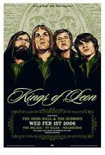 KINGS OF LEON MELBOURNE 06 CONCERT POSTER ART KEN TAYLOR