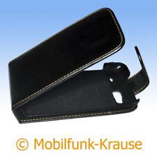 Flip Case Etui Handytasche Tasche Hülle f. HTC Desire Z (Schwarz)