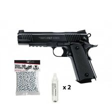 COLT M45 A1 CQPB Pistolet à billes d'acier 4.5mm - FULL METAL + 500 billes + 2 C