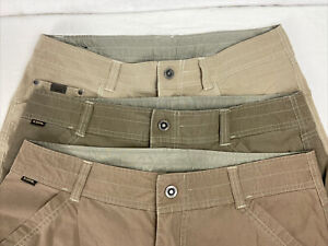 Lot Of 3 Pairs Kuhl Shorts Men's Size 35 Hiking Camping Cargo Outdoors