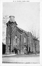 Cadiz Ohio~Methodist Episcopal Church~1950s B&W Postcard