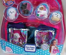 Puppy in My Pocket *NEW* Fancy Puppy PURSE Set Scotty Bijon Dalmation