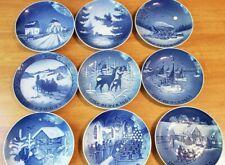 Set Of 9 Pristine Vintage B&G Bing & Grondahl Plates 1960s Jule After Denmark