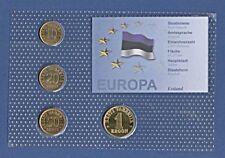 KMS Kursmünzensatz Estland (1992-2001) 4 Münzen 10 Senti-1 Kroon Blister K8