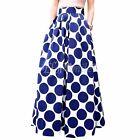 Women's Chiffon Polka Dot Summer Skirt Boho High Waist Beach Long Maxi Sun Dress
