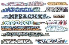 HO COLORFUL GRAFFITI  DECALS ASSORTMENT 338 FOR LONGER CARS FREE SHIPPING