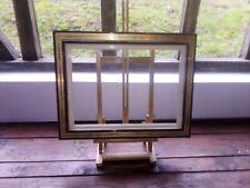 Cadre bois or fin ,profil dit à l'inversé , avec ml blanche 46 x 33 cm  8P