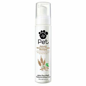 John Paul Pet Dog/Cat Grooming Oatmeal Waterless Foam Shampoo/Sensitive Skin 250
