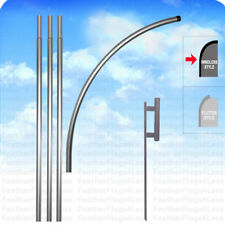 Deluxe Windless Pole Amp Spike Set For Swooper Feather Flag Kit