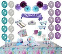 Bubba & Bailey Mermaid Party Supplies for 19 Guests! 243pcs incl Sash and Tia...