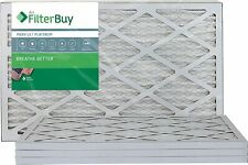 FilterBuy 10x20x1 Merv 13 Pleated Ac Furnace Air Filter, (Pack of 4 Filters), 10