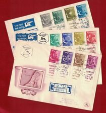 1955 Israel 3 Covers SG 115/26A Registered FDC good condition