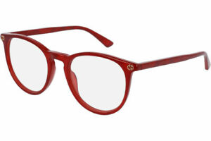 New Authentic GUCCI GG0027O 004 Red 50/20/140 RX Eyeglasses Optical Frame