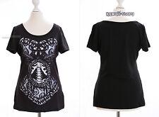 TP-03 Gothic Punk schwarz black T-Shirt Bones Skelett vorne Harajuku Japan