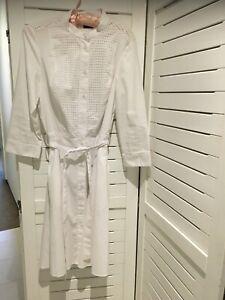 Armani Exchange White Shirt Dress Size 8 (US)