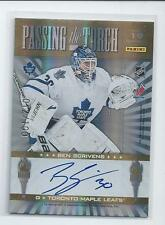 Curtis Joseph & Ben Scrivens 2011-12 Elite Passing the Torch Autographs #012/100