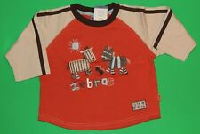 3t 3 Nwt Pumpkin Patch Pet Rescue Orange Zebra Shirt Top Boys