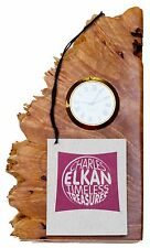 CHARLES ELKAN Timeless Treasures Birds-eye Maple Burl Clock