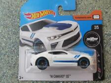 Hot Wheels 2017 #265/365 2016 chevy CAMARO SS blanc 50e Anniversaire