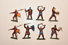 Vintage STARLUX Medieval Foot Knights RED Infantry Plastic Toy Soldiers 1:32