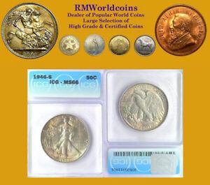 1946 S  Half Dollar, Superb Gem BU, ICG 66,  Luster/Sharp Detail, Beauty