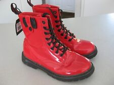 GOLDDIGGA ladies/girls DANNI BOW red patent ankle high boots Sz 3.5UK